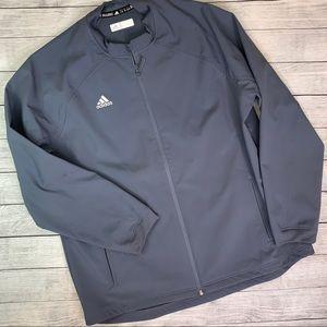 Adidas Dugout Warm Jacket Blue / Gray Full Zip XL